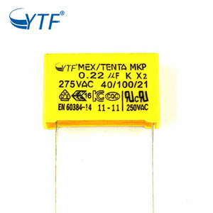 China Manufacturer Interference Suppression X2 Mkp Capacitor 0.22uf 275vac