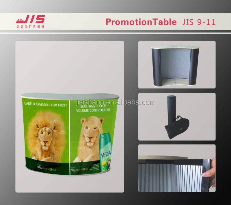 JIS9-11,Portable Arc-shaped PVC hollow plate PP board promotion counter