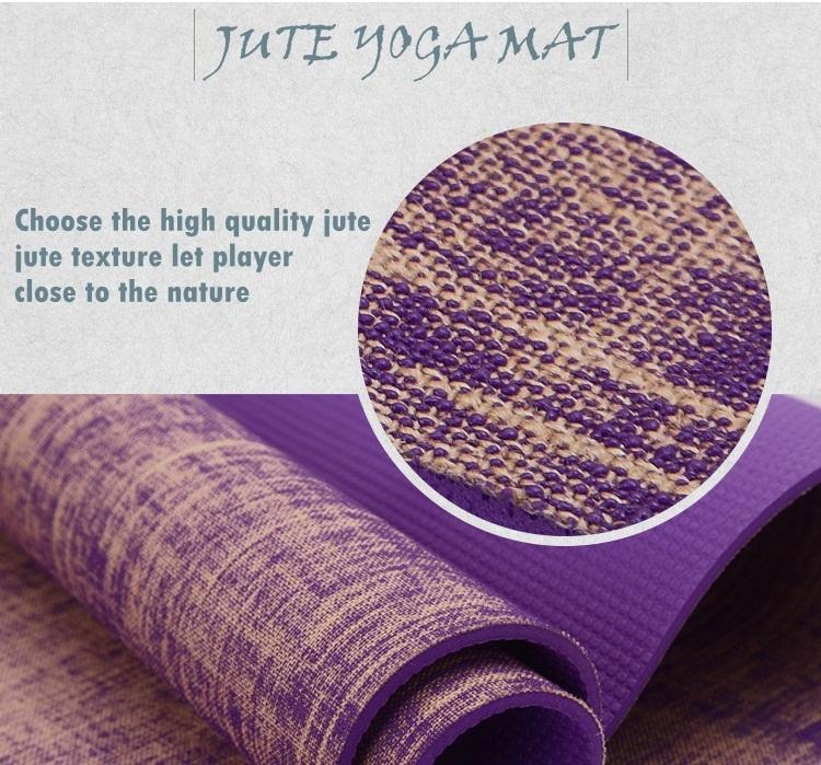 Jute Yoga Mat For Indonesia Market