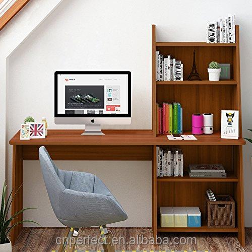 Computer Desk With Shelf Wooden Writing Desk Study Table Workstation For  Home Office Adjustable Bookcase Design