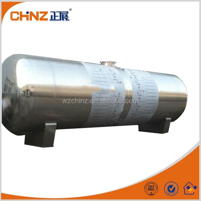 20 m3 stainless steel horizontal tank for sale