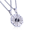 Chinese Taoism Eight Diagrams Tai Chi Necklace Yin Yang Couple lover Pendant Jewelry
