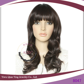 hair style name black curly fashion wig kosher wigs 8047