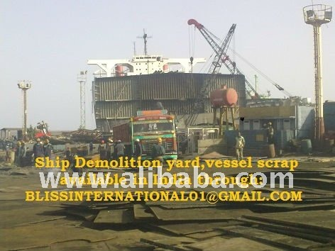 Ship Breakage or vessel scrap for sale