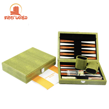 Kulit Kustom Papan Permainan <span class=keywords><strong>Backgammon</strong></span> Set dengan <span class=keywords><strong>Backgammon</strong></span> Potongan