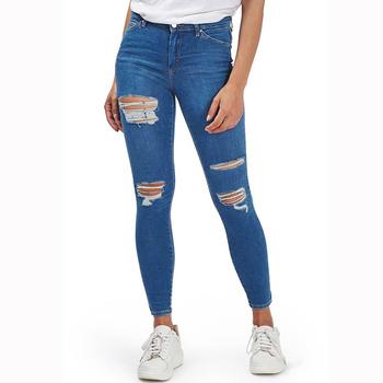 varios estilos primera vista disfrute del envío de cortesía 2019 Popular Personalizada Destruido Elástico Mujeres Jeans Último  Diseñador De Jeans Lápiz Damas Super Pantalones Vaqueros Skinny - Buy  Pantalones ...