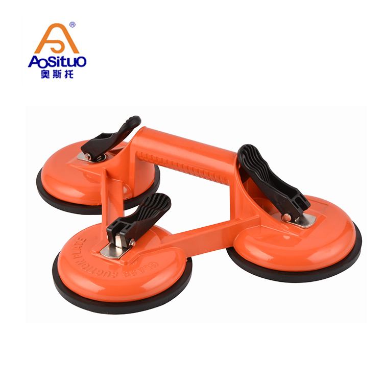 """6/"""" Dual Vacuum Suction Cup Lifter with Steel Handle for Marble Glass Lifting"""