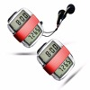 Step calorie distance count pedometer with FM radio and stopwatch