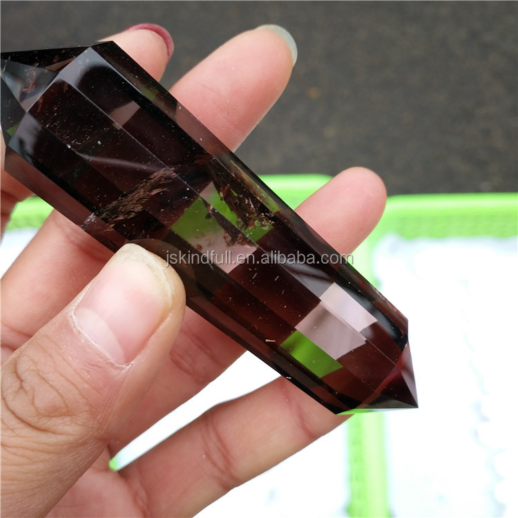 Hot Sale 24 Sides Smoky Quartz Crystal Healing Natural Point For ...