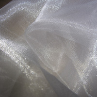 polyester crystal glitter best price organza fabric for wedding dress decoration fabric draping fabric