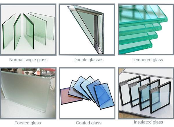 Cheap price single pane aluminium sliding window colored for Types of window panes