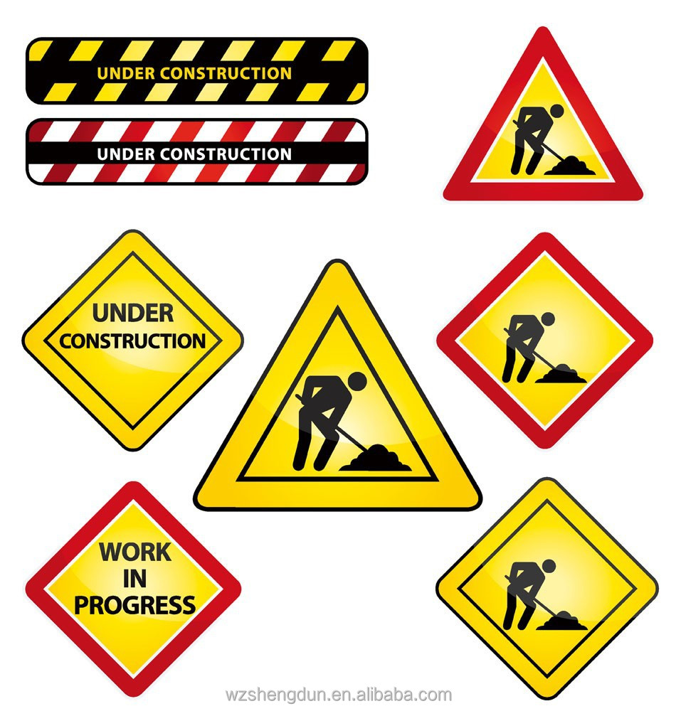 Reflective Aluminium Construction Safety Signs For Road Work ...