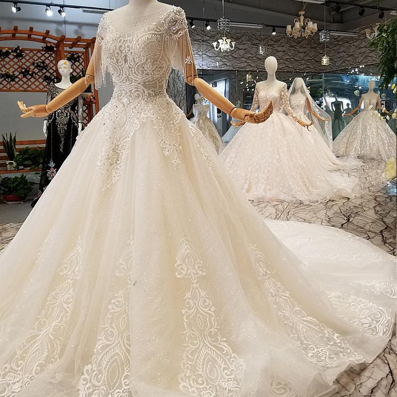 LS247001 cuello alto boda occidental patrones vestido de las ...
