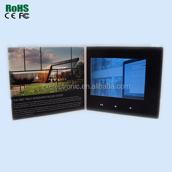 "Superior Quality Unique Customized 2.4"" 3.5"" 4.3"" 5"" 7"" LCD Video Brochure Card LCD"