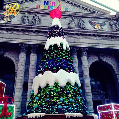 Factory Price giant outdoor wire led christmas tree