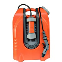 portable car wash machine with rechargeable battery and spray gun