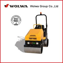 GNYL52 gasoline engine 20.0HP one side support single drum vibrating 1480kg driving double drum road roller for sale