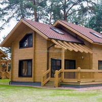 Fast build Prefab wood house with India Price