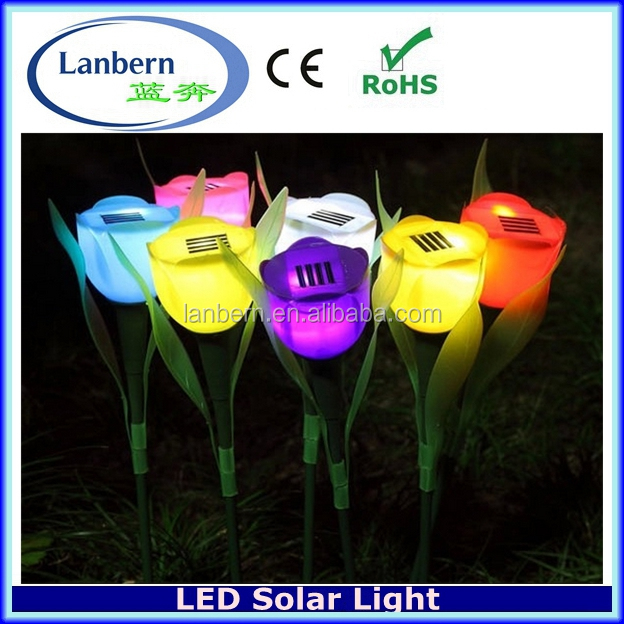 Hot popular solar flower lights for wall and solar lights for yard signs,solar lights outdoor gardenJD-140A