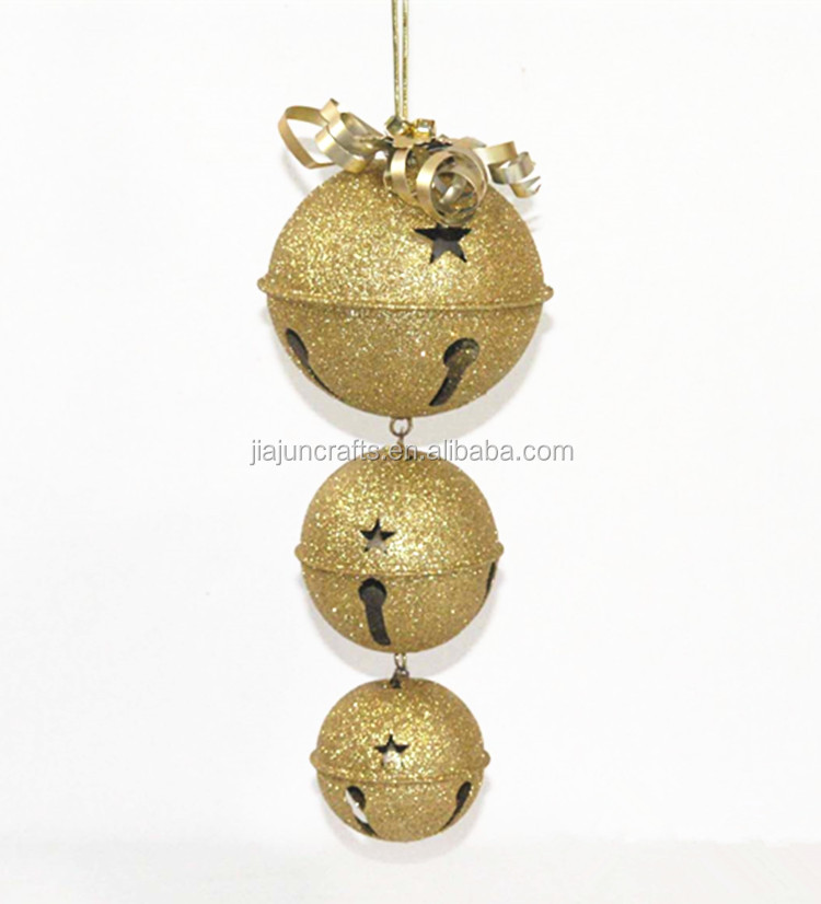 Christmas metal bell ornament home decoration