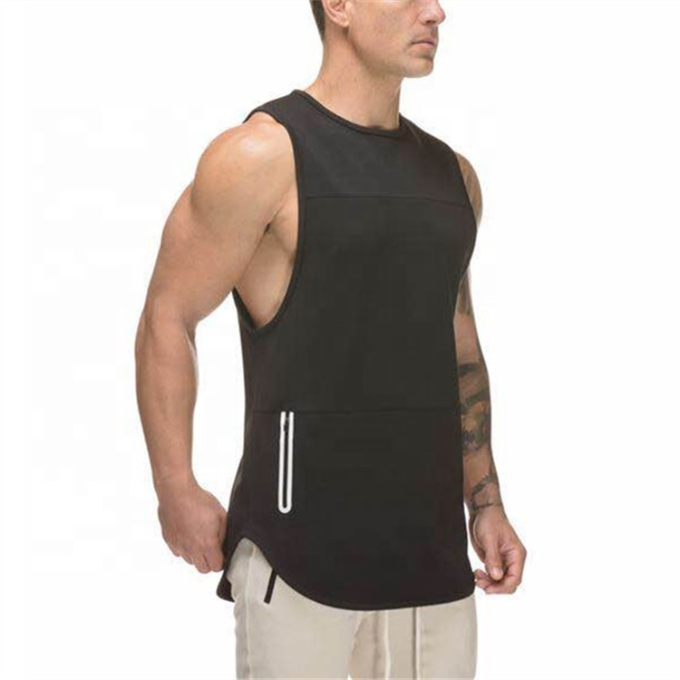 Heren Tank Top Gym Workout Wear Gym Loose Fit Spier Tank Tops Groothandel