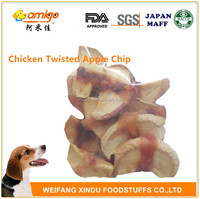 90g/bag Chicken Breast Twist Apple Chip Dog Food
