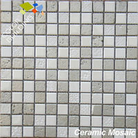 travertine mosaic tile tidal series white unglazed ceramic mosaic tiles