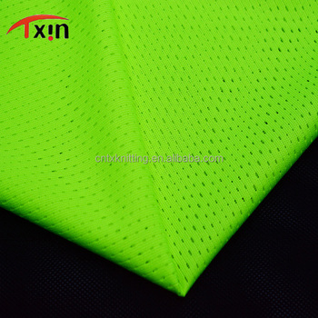 Tear resistant polyester mesh fabric knitting sports fabric,manufacture mesh fabric