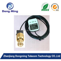 MCX male connector RG174 3M cable mini GPS active antenna