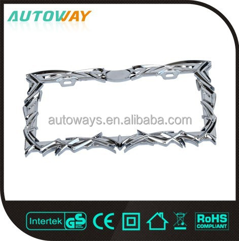 Embossed Universal Zinc License Plate Frame