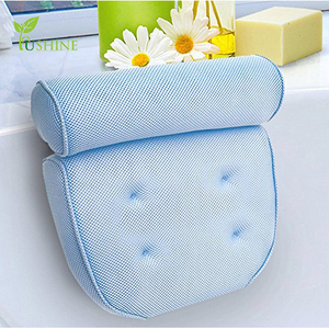 Luxury Spa Non-Slip Extra Thick Magnetic Bath Tap Pillow with Head / Neck / Shoulder and Back Support