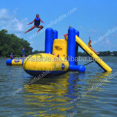 Lake Inflatable water trampoline/water blob trampoline/aqua jump water trampoline
