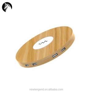 UFO Shape 10W Fast Charge 5W Charge QI Wireless Charger With 4 Usb Ports For iPhone For Android