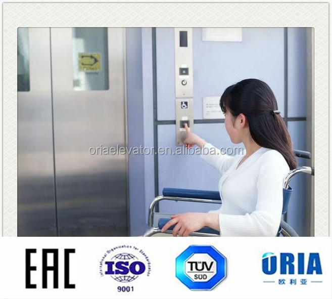 ORIA gearless MRL medical/bed/hospital lift elevator price in China