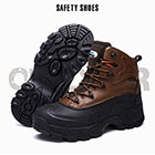 Outdoor Men Steel Toe Shoes Fashion Waterproof man safety boots Construction Work Boots Cowhide Hiking Climbing Shoes