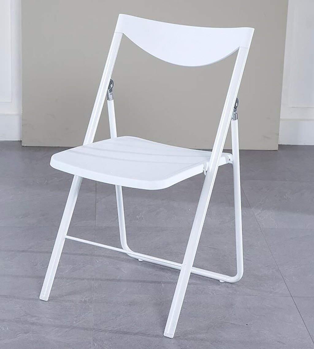 fold up chairs Nordic Casual Adult Folding Dining Chair Modern Simple Creative Fashion Home Back Chair (Size: 46 45.5 81cm) Folding Chairs
