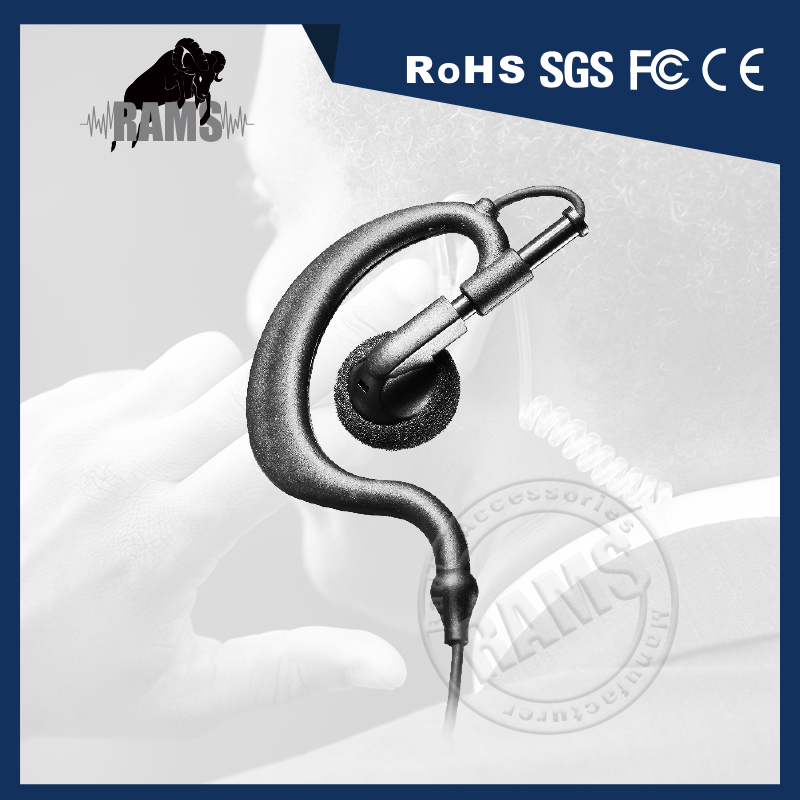 G Shape Adjustable Ear Hook Earpiece