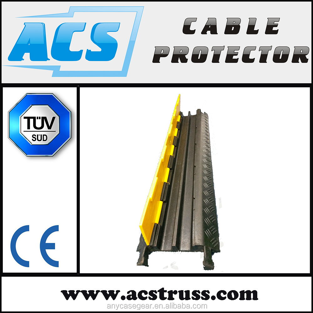 3 Channel Rubber Cable Pipe Hose Protector with reasonable price