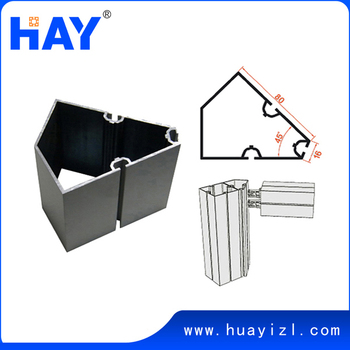 45 Degree Aluminum Square Extrusion For Exhibition Stand