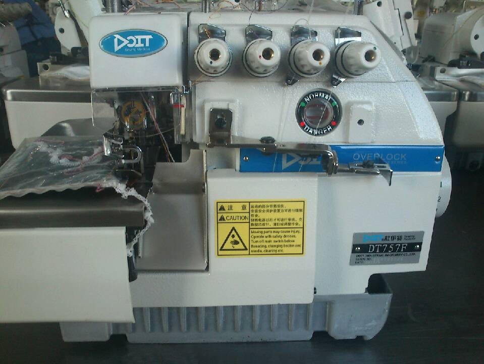 DT757F Five thread high speed overlock industrial china sewing machine
