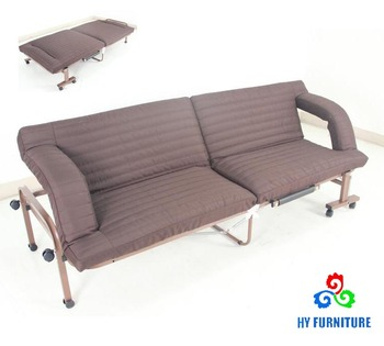 Living Room Portable Folding Bed Sofa With Wheels