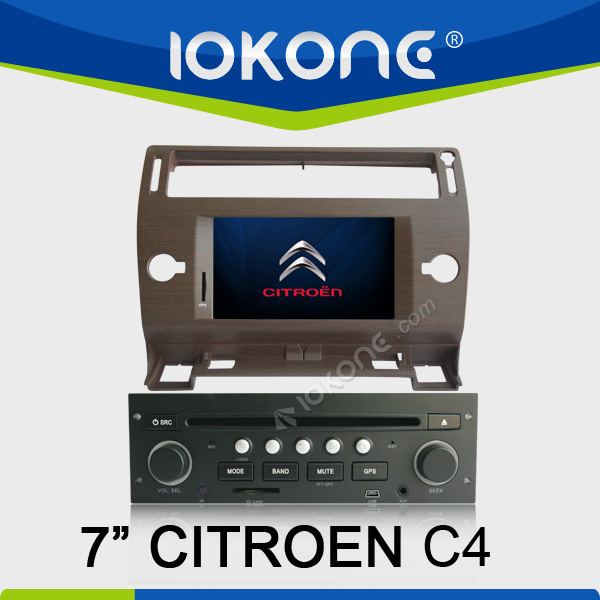 "2005-2009 factory 7"" HD Touch screen citroen c4 gps dvd with TMC, camera, mic, dvb-t"