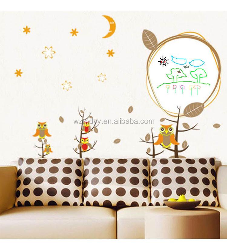 kids owl wall sticker/home decor printable sticker/owl tree wall