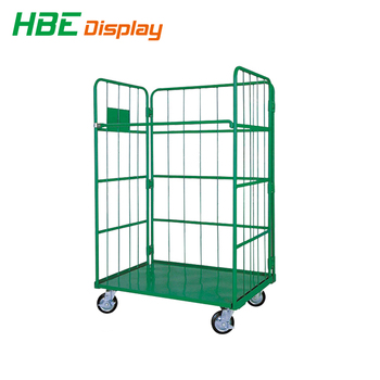 Cold Steel Warehouse Storage Roll Cage Trolley - Buy Roll Cage  Trolley,Warehouse Trolley,Rolling Pallet Trolley Product on Alibaba com