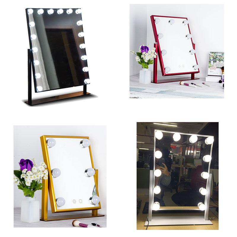DHL Shipping Purchase on-line Free OEM Hollywood Dimmer Glow XL Vanity Table top Mirror with Bulbs