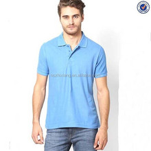 Wholesale Cotton Blank Blue Polo T Shirts