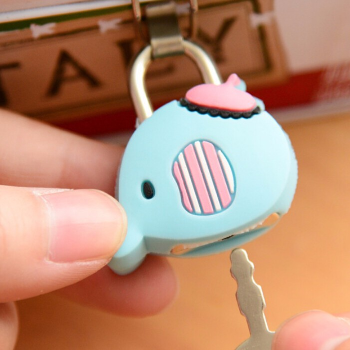 Elephant Mini Lock and Key Set safety key