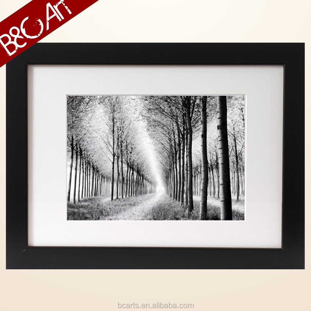 Z(9015) Forest landscape print painting trees picture black and white modern natural painting