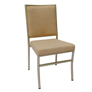 Factory sale cream upholstered aluminum ballroom chiavari chair