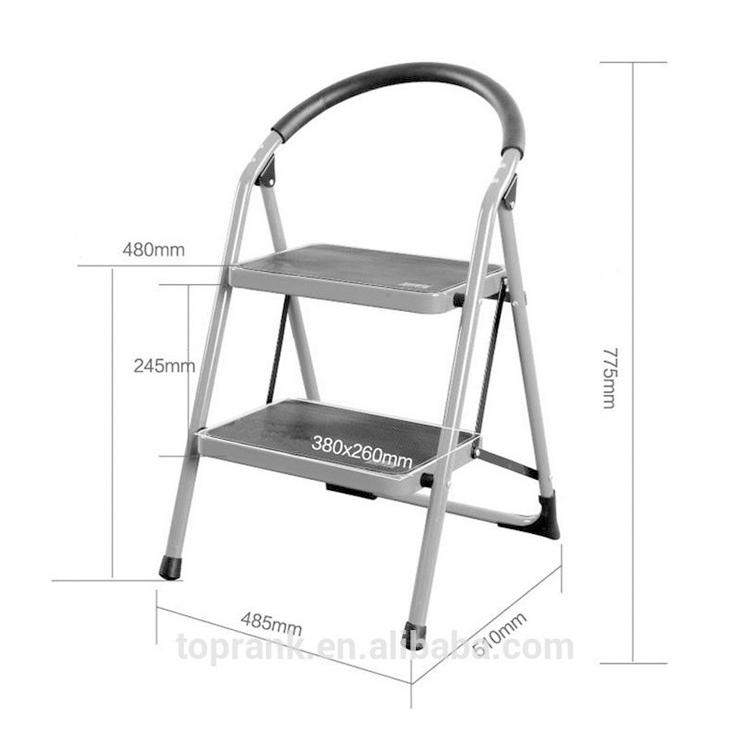 2 Steps Heavy Duty Folding Stepladder With Platform Amd Handles Kitchen  Step Stool For Home,Anti-slip Safty Iron Ladders - Buy Ladder,Step ...